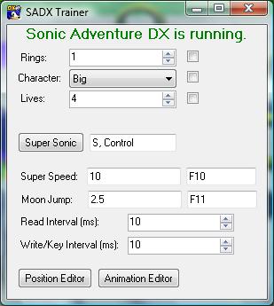 Скачать трейнер для соник dx